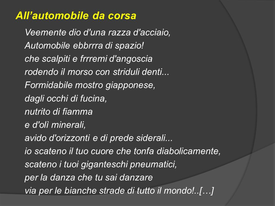 All'automobile da corsa