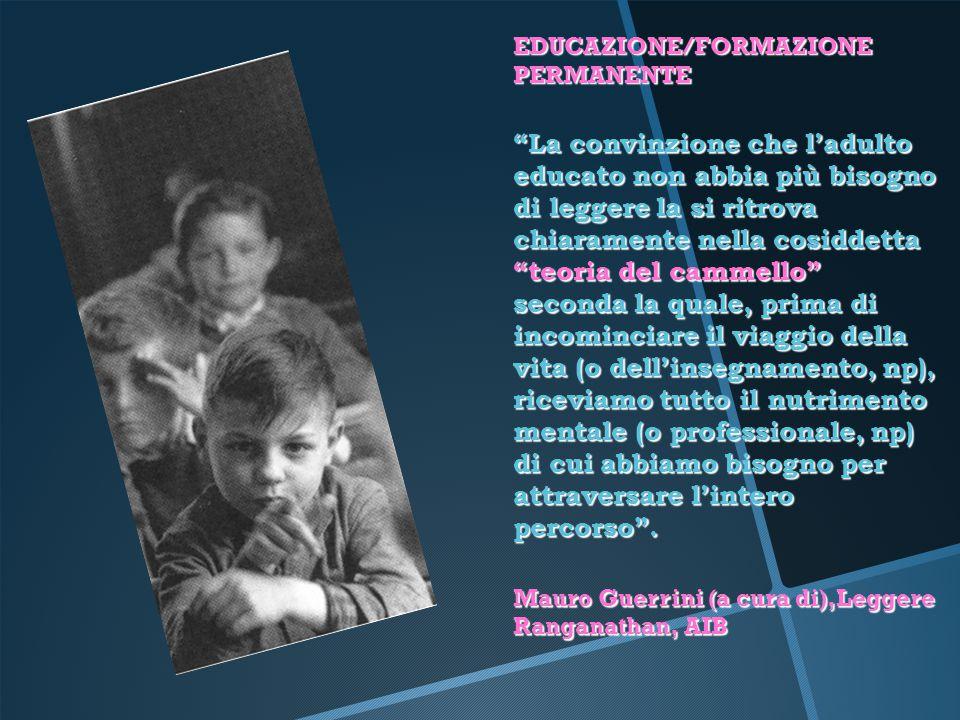 EDUCAZIONE/FORMAZIONE PERMANENTE