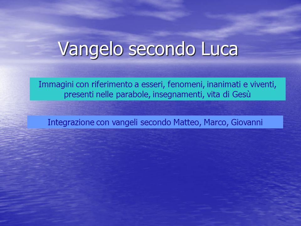 Integrazione con vangeli secondo Matteo, Marco, Giovanni