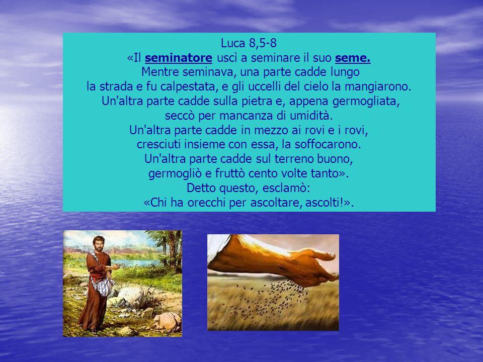 «Il seminatore uscì a seminare il suo seme.