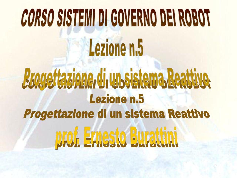 CORSO SISTEMI DI GOVERNO DEI ROBOT Lezione n.5