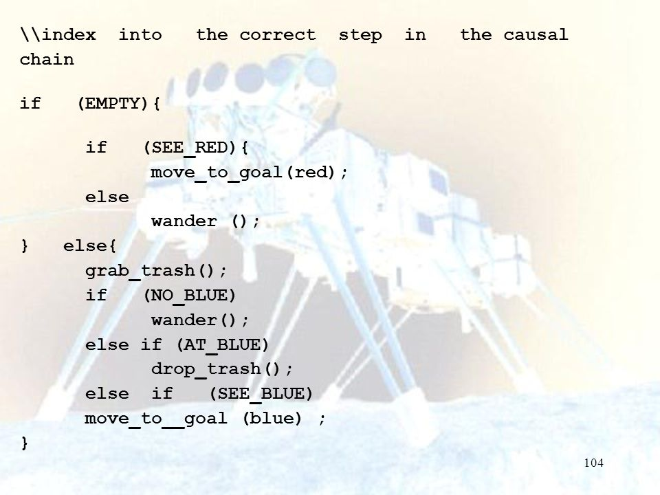\\index into the correct step in the causal chain