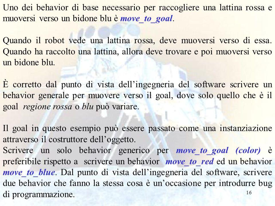 Uno dei behavior di base necessario per raccogliere una lattina rossa e muoversi verso un bidone blu è move_to_goal.