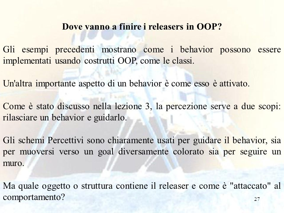Dove vanno a finire i releasers in OOP