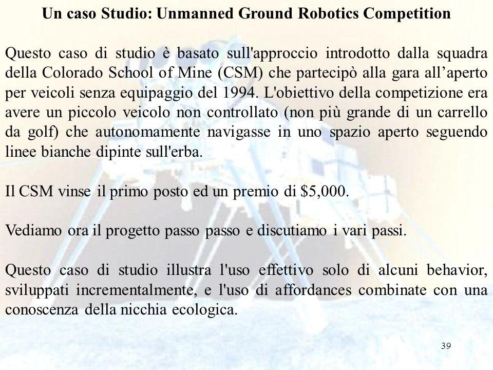Un caso Studio: Unmanned Ground Robotics Competition