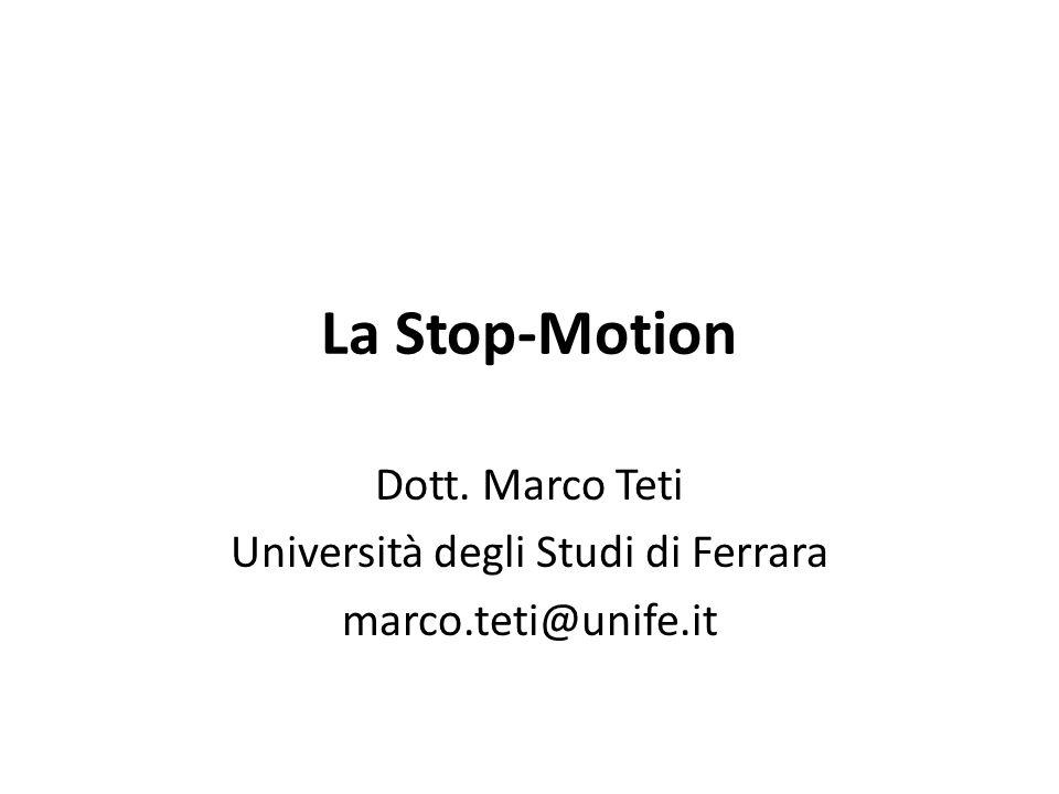 Dott. Marco Teti Università degli Studi di Ferrara marco.teti@unife.it