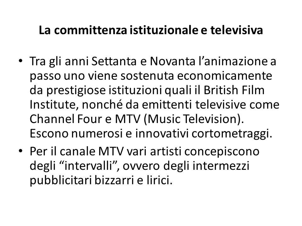 La committenza istituzionale e televisiva