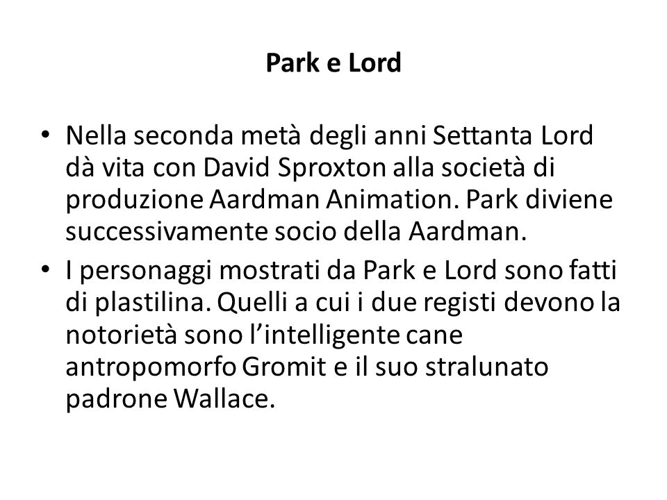 Park e Lord