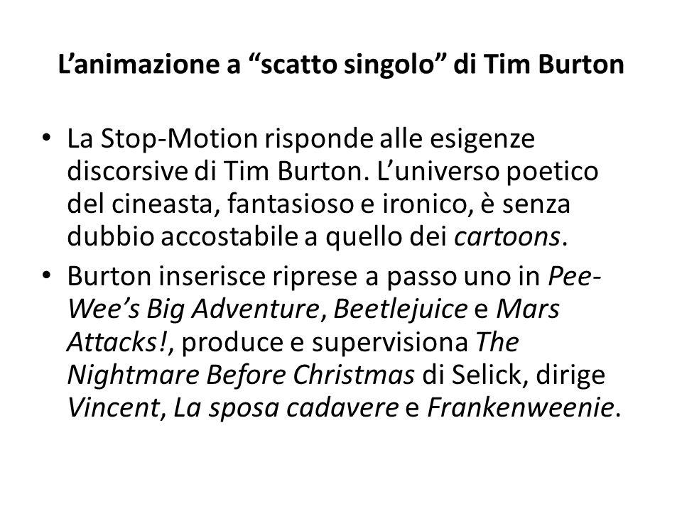 L'animazione a scatto singolo di Tim Burton