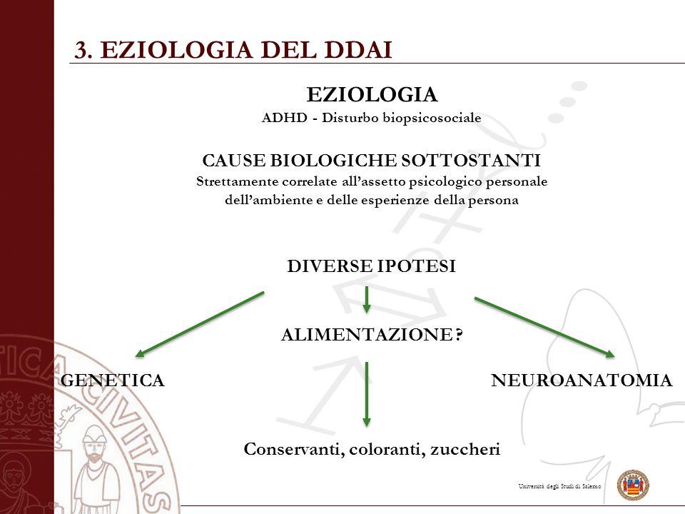 3. EZIOLOGIA DEL DDAI EZIOLOGIA CAUSE BIOLOGICHE SOTTOSTANTI