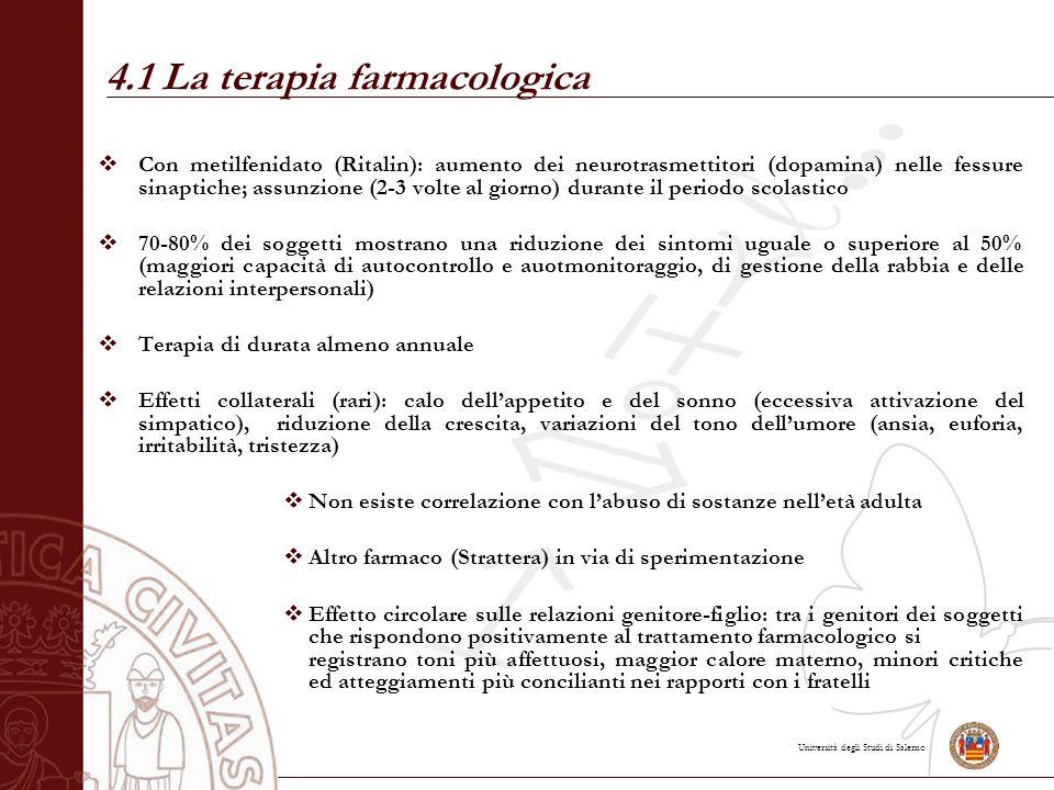 4.1 La terapia farmacologica