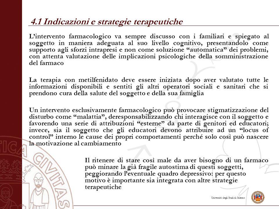 4.1 Indicazioni e strategie terapeutiche