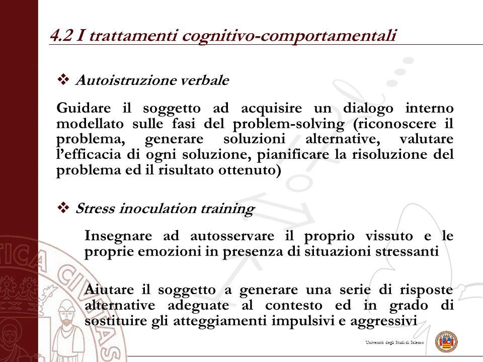 4.2 I trattamenti cognitivo-comportamentali