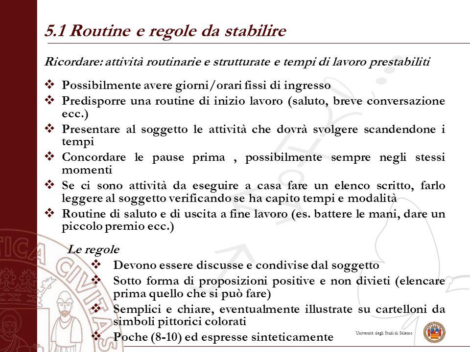 5.1 Routine e regole da stabilire