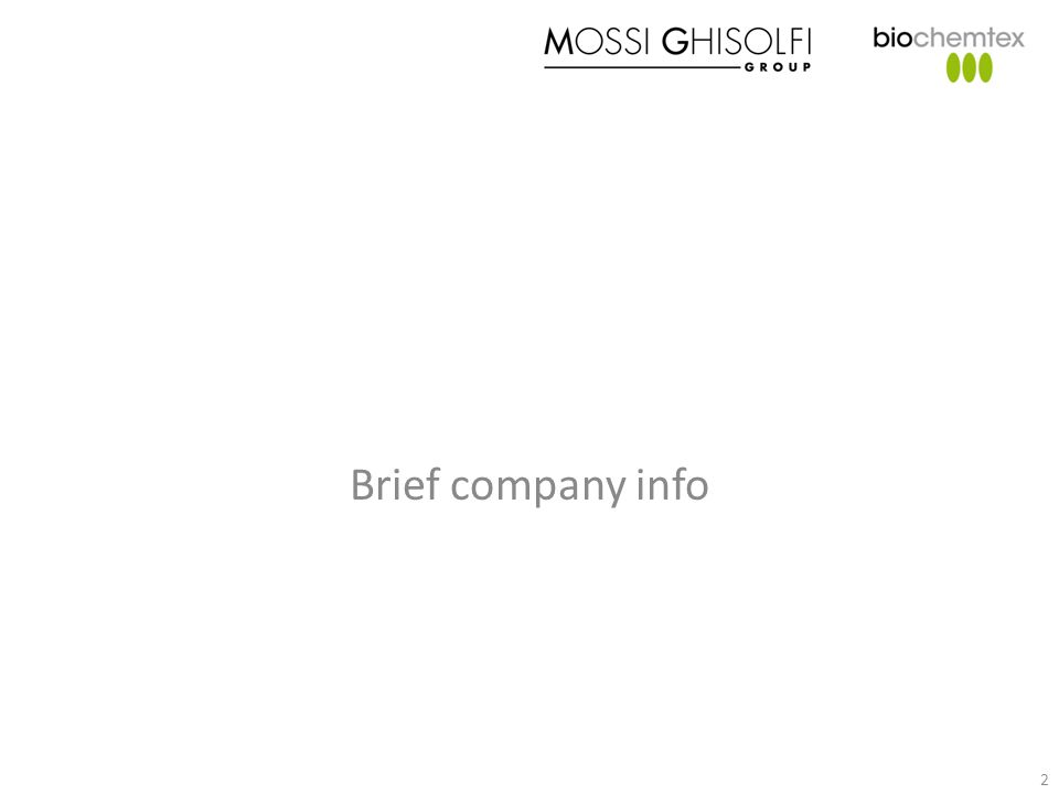 Brief company info