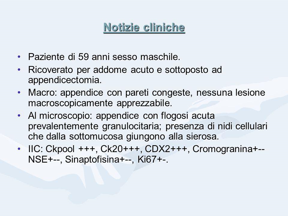Notizie cliniche Paziente di 59 anni sesso maschile.