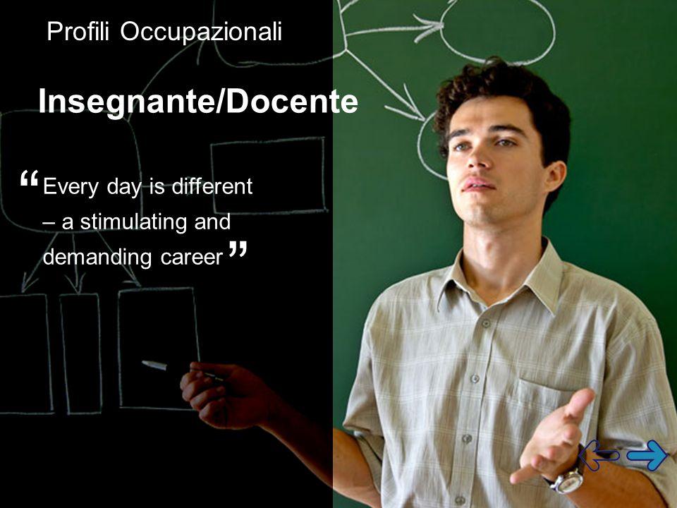 Insegnante/Docente Profili Occupazionali