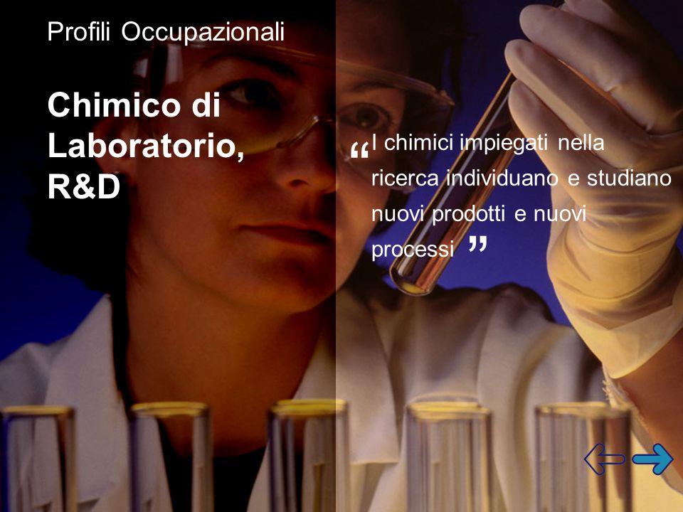 Chimico di Laboratorio, R&D Profili Occupazionali