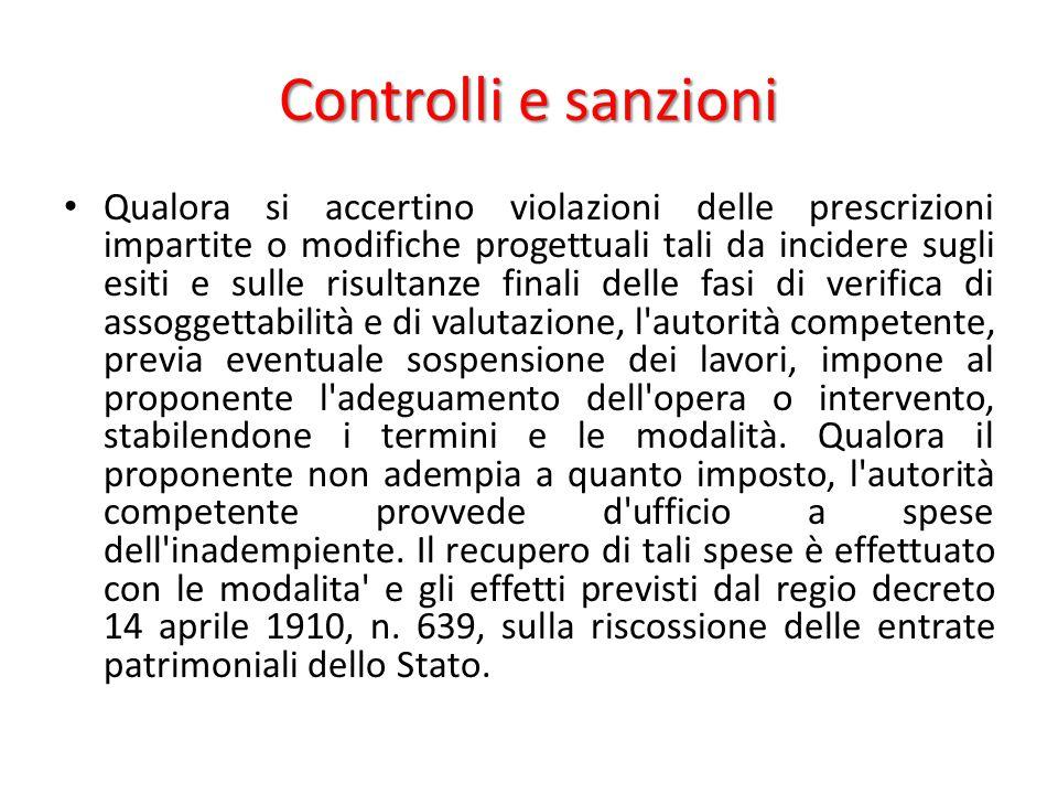 Controlli e sanzioni