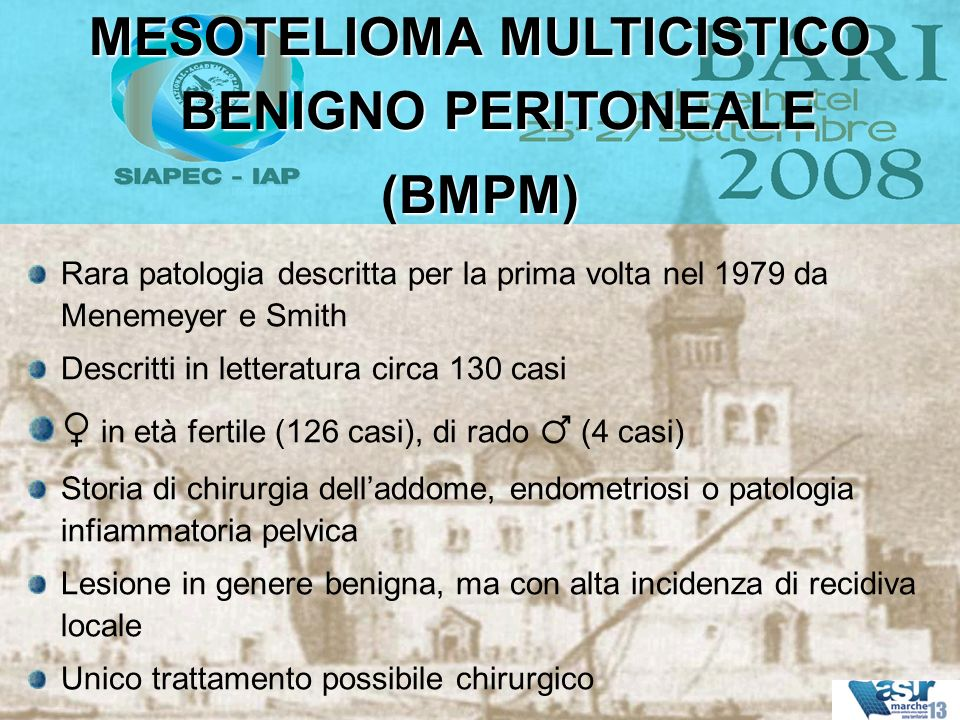 MESOTELIOMA MULTICISTICO BENIGNO PERITONEALE
