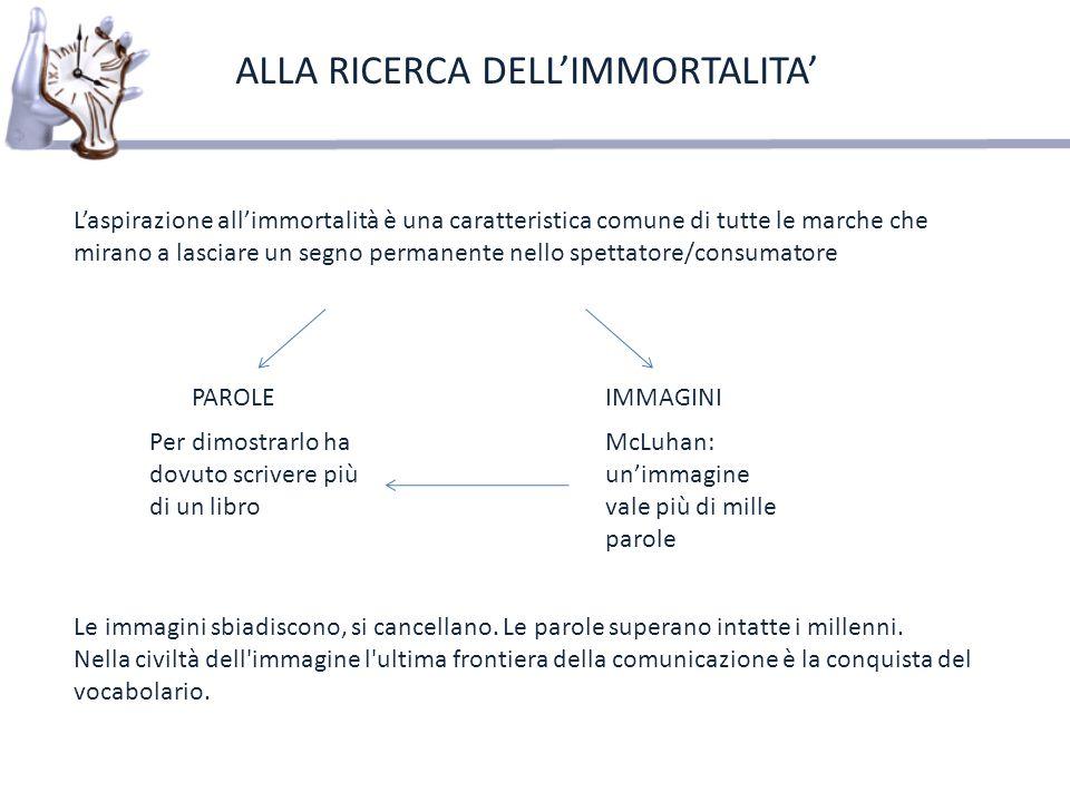 ALLA RICERCA DELL'IMMORTALITA'