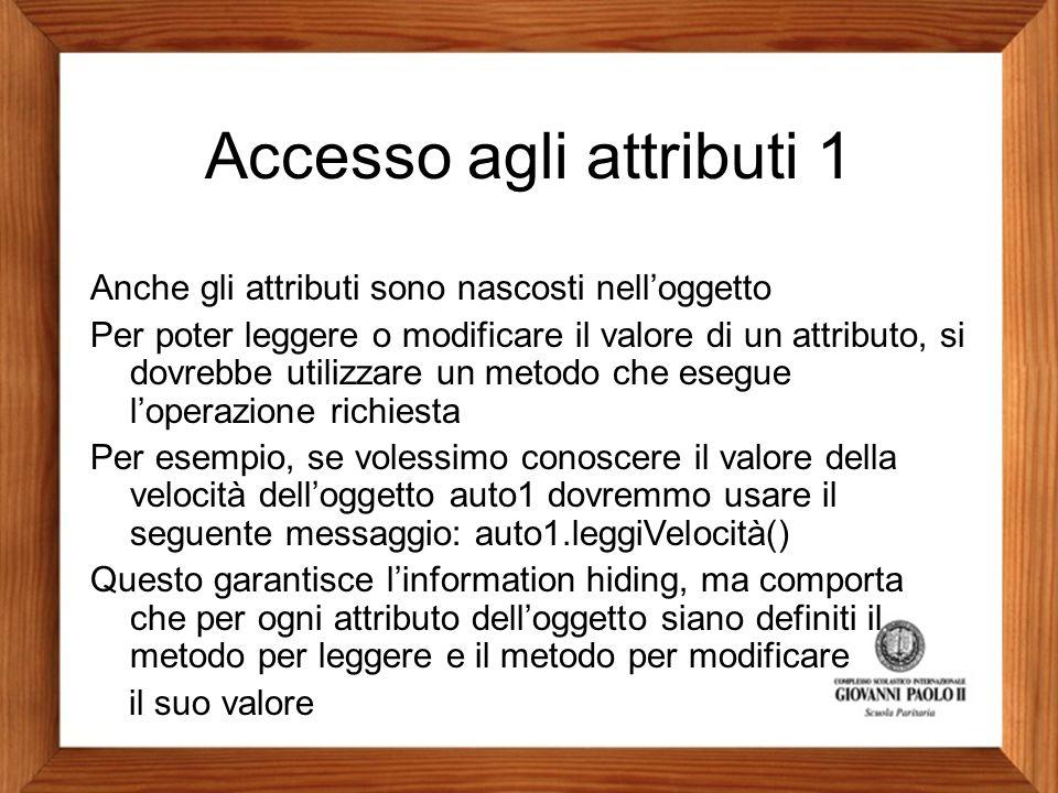 Accesso agli attributi 1