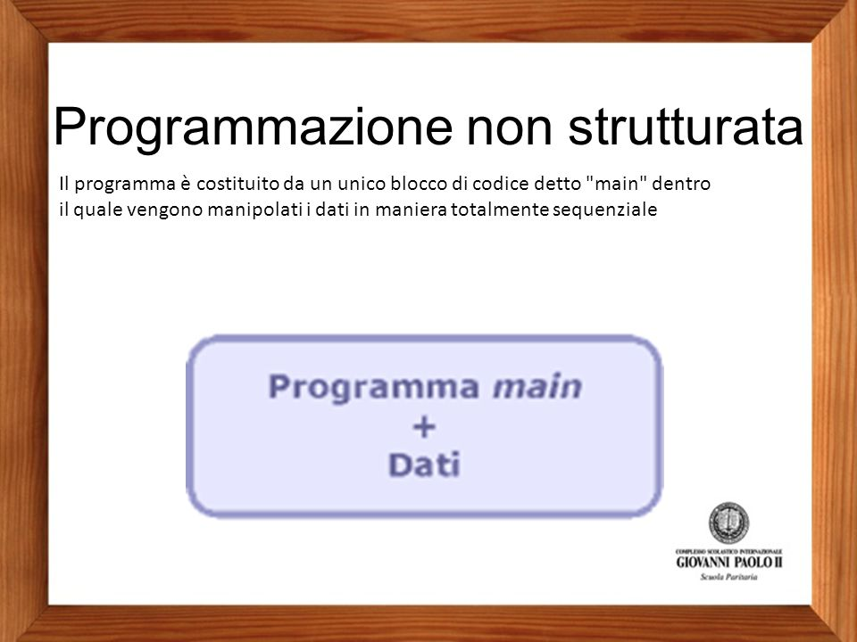 Programmazione non strutturata