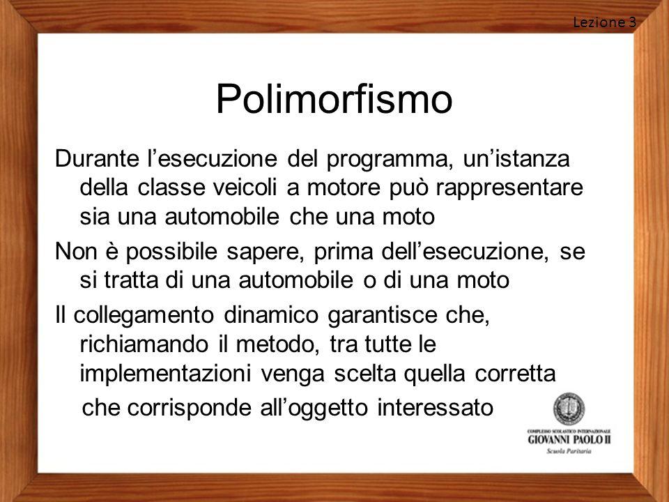 Lezione 3 Polimorfismo.