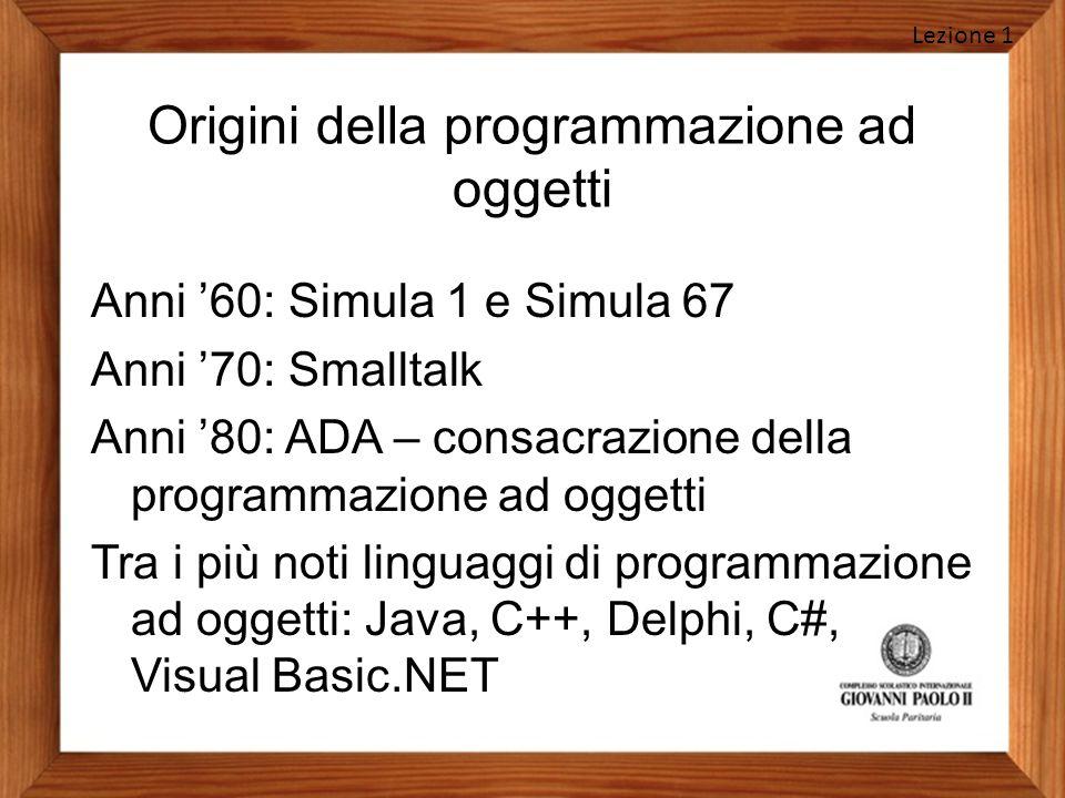 Origini della programmazione ad oggetti