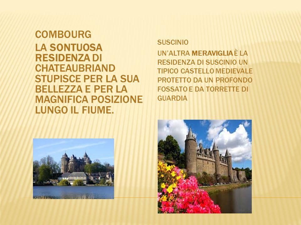 Suscinio Un'altra meraviglia è la residenza di Suscinio un tipico castello medievale protetto da un profondo fossato e da torrette di guardia.