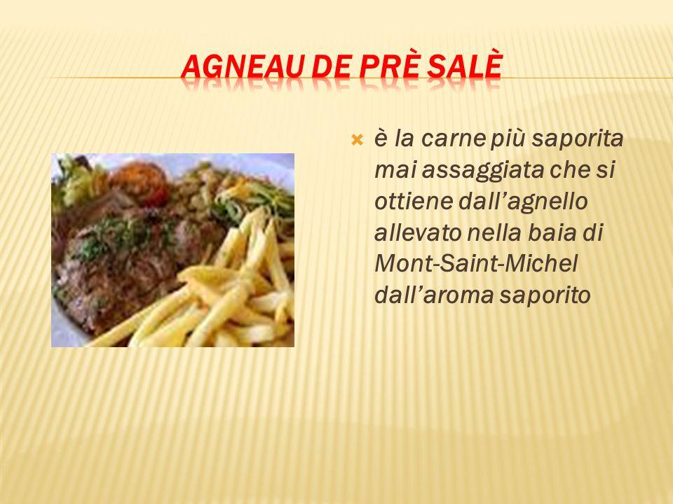 Agneau de prè salè è la carne più saporita mai assaggiata che si ottiene dall'agnello allevato nella baia di Mont-Saint-Michel dall'aroma saporito.