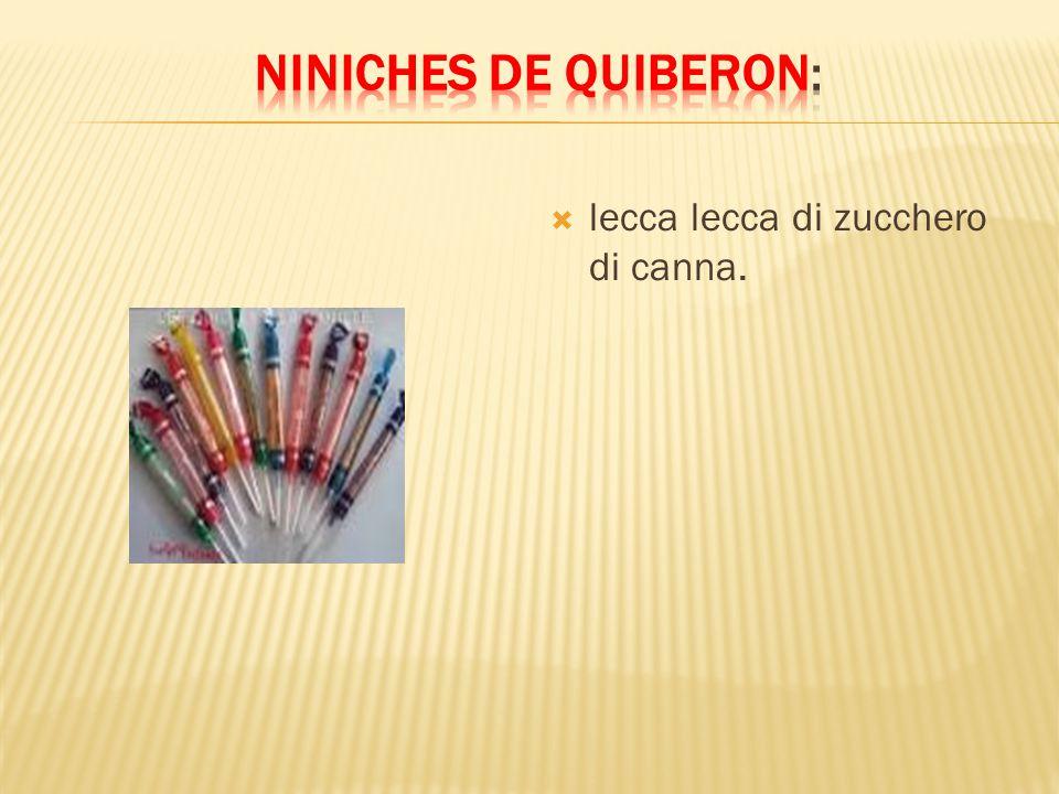 Niniches de Quiberon: lecca lecca di zucchero di canna.