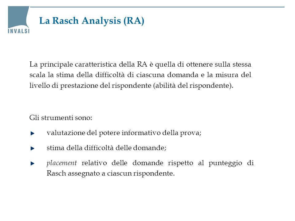 La Rasch Analysis (RA)
