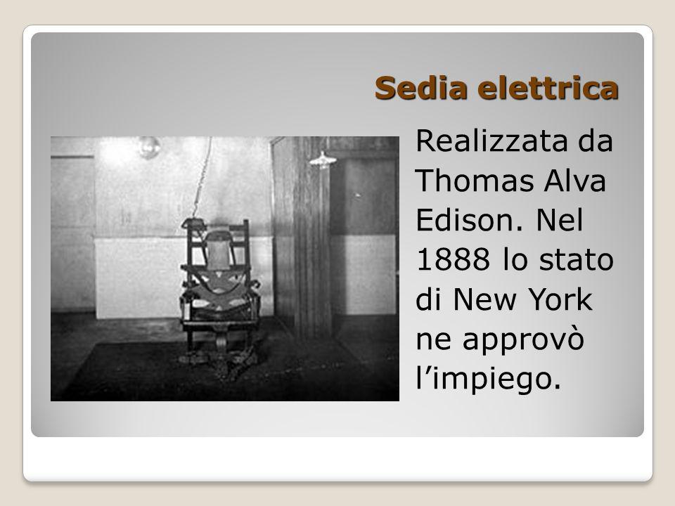 Laboratorio di storia classe 3a ppt video online scaricare for Sedia elettrica edison