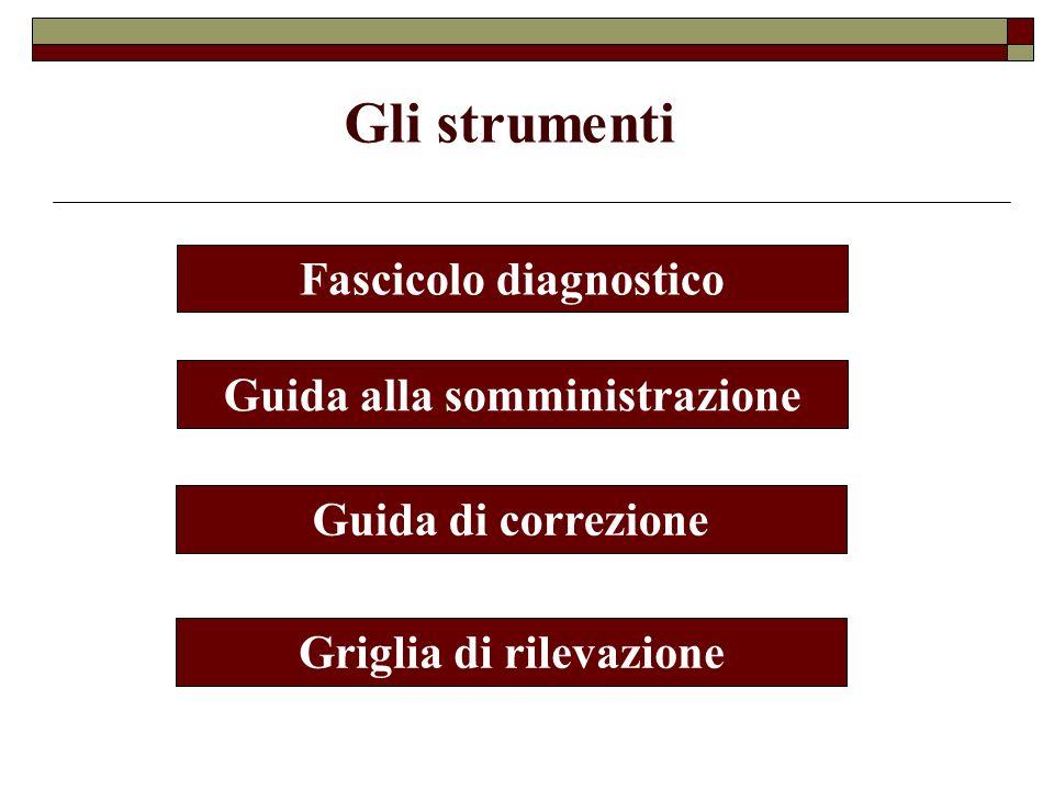 Gli strumenti Fascicolo diagnostico Guida alla somministrazione