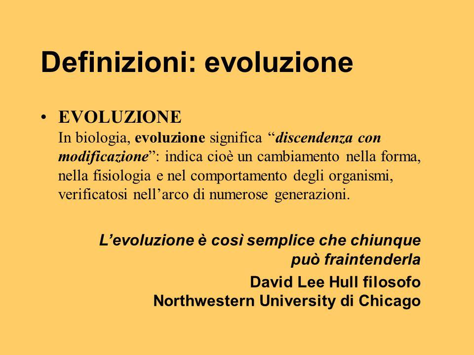 Definizioni: evoluzione