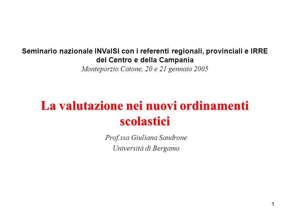 Prof.ssa Giuliana Sandrone Università di Bergamo