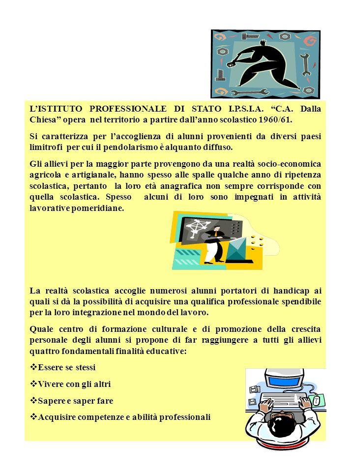 L'ISTITUTO PROFESSIONALE DI STATO I. P. S. I. A. C. A