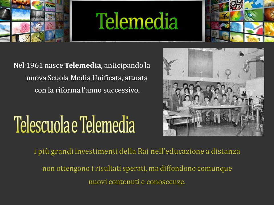 Telescuola e Telemedia