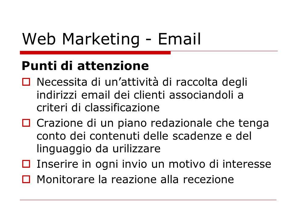 Web Marketing - Email Punti di attenzione