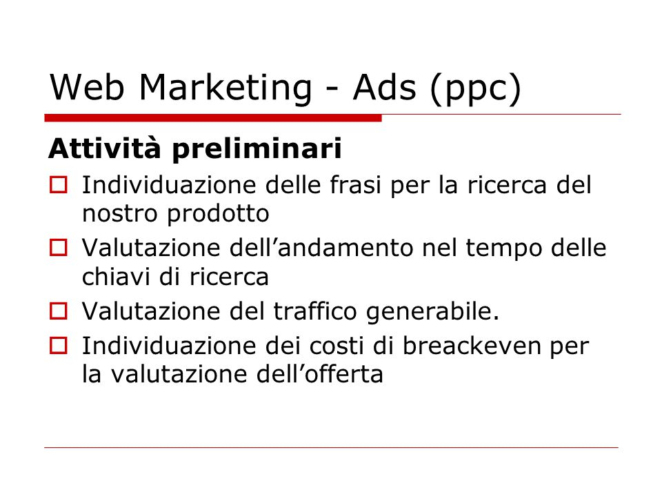 Web Marketing - Ads (ppc)
