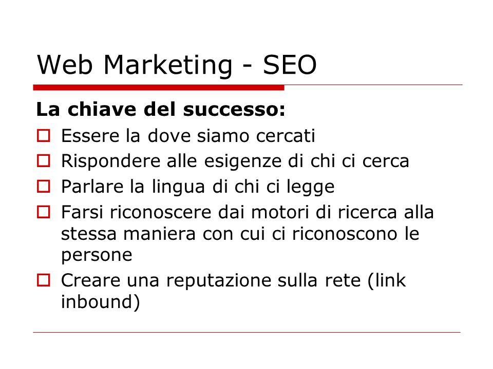 Web Marketing - SEO La chiave del successo:
