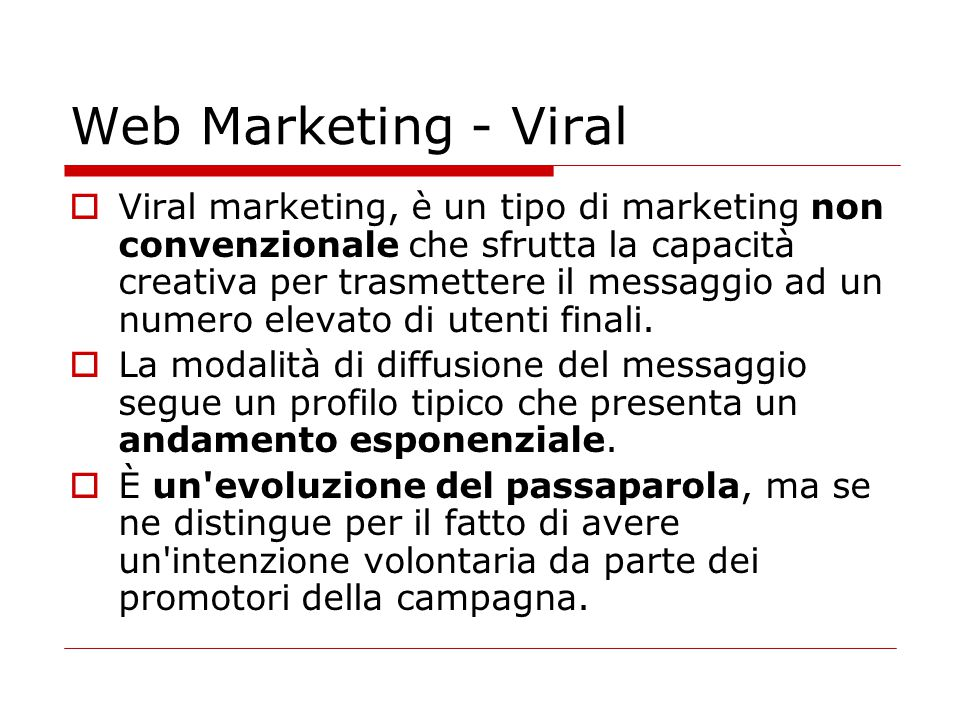 Web Marketing - Viral
