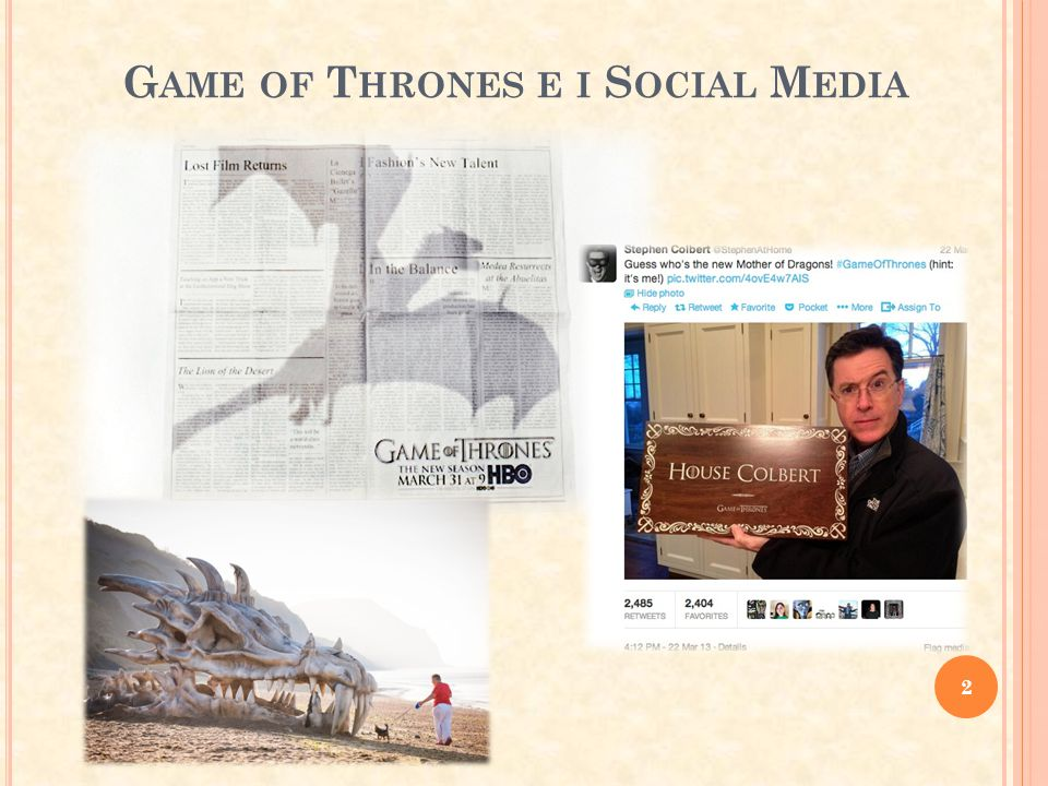 Game of Thrones e i Social Media