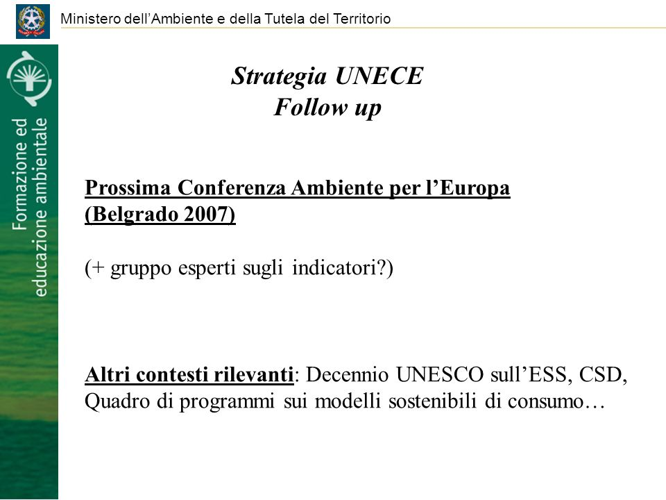Strategia UNECE Follow up