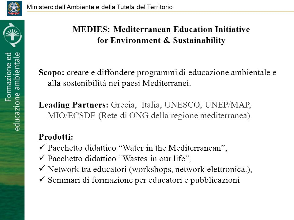 MEDIES: Mediterranean Education Initiative