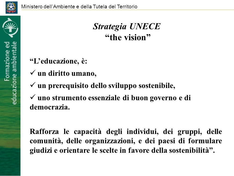 Strategia UNECE the vision