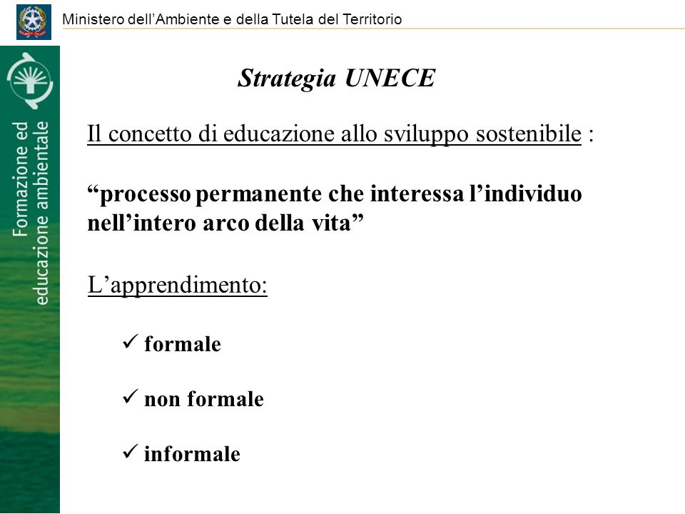 Strategia UNECE L'apprendimento:
