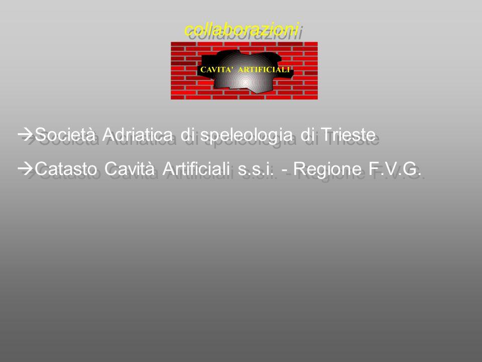 collaborazioni Società Adriatica di speleologia di Trieste.