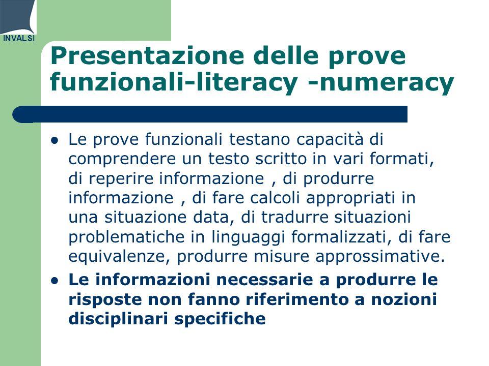 Presentazione delle prove funzionali-literacy -numeracy